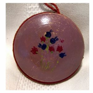 Painted Circular Pin Cushion