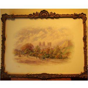 "George Fall ""York Street Scene"" Watercolour"