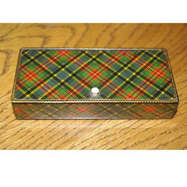 Tartanware Stamp Box & Nib Holder