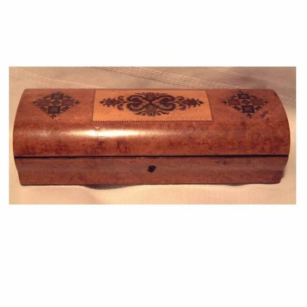 Burr Walnut Glove Box