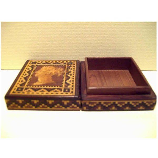 Tunbridgeware Stamp Box