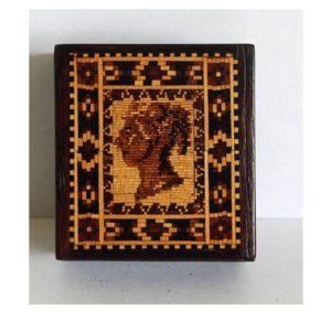 Tunbridgeware  Q Victoria Stamp Box